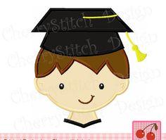 Graduation Boy,Graduation embroidery design for boys,Graduation and School Embroidery Design SCH002  -4x4 5x5 6x6 inch by CherryStitchDesign on Etsy
