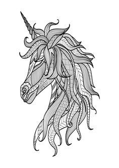 mandala motiv, ausmalbild: einhorn | ausmalbilder einhorn, einhorn zum ausmalen, malvorlagen pferde