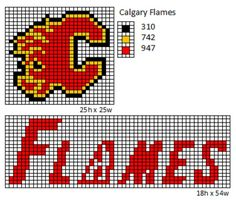 Here is patterns for the logos and name plates for the current teams of the NHL. If anyone would like the patterns for any of the teams tha. Pearler Bead Patterns, Bead Loom Patterns, Perler Patterns, Doll Patterns, Beading Patterns, Knitting Patterns, Nhl Logos, Sports Team Logos, Sports Art