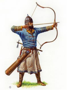 Kazhar-Kagan's Alan bowman, 9th- beginning of 10th C - Аланский лучник Хазарского каганата, IX – начало X века.