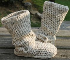 Crochet Boots PatternOATMEALSlouchy Mid Calf Boots by OnWillowLane, $5.00