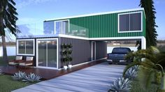 Shipping container homes cost container homes prices,metal container homes cargo shipping containers for sale,container home designs and prices houses built out of shipping containers cost. Container Home Designs, Container Van, Storage Container Homes, Building A Container Home, Container Buildings, Container Architecture, Architecture Design, Contener House, Facade House