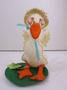 "Annalee Dolls Vintage 1986-88 Easter Goose 10"" Bonnet  White #Dolls"