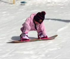 Toddler Learning to Snowboard. Funny Video of 1 year old snowboarding. Sierra video coming soon! Kids Ski Wear, Sweet Child O' Mine, Kids Skis, Toddler Learning, 1 Year Olds, Ski And Snowboard, Winter Sports, Best Mom, Baby Pictures