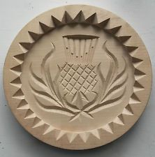 Wooden Scottish Thistle Shortbread Mould - Hand Made in Scotland