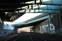 Graffiti Traintracks Geometric