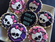 Monster High Cookies~                  1Dozen by LaPetiteCookie on Etsy, $36.00, pink, purple