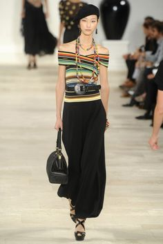 Ralph Lauren SS 2013 RTW Collection Striped, Belted Bandeau top is werkin'