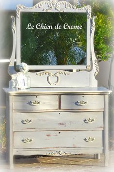 Paris Gray and Old White with clear and dark wax $420