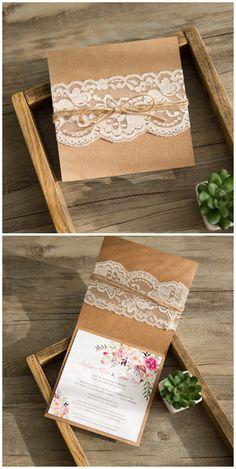 #rusticwedding #weddingcards #boho 2016 rustikale Hochzeitskarten Einladungen…