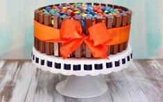 How to Make a Kit Kat Cake (With Your Leftover Halloween Candy) by @RecipeGirl {recipegirl.com} {recipegirl.com} on Parade.com