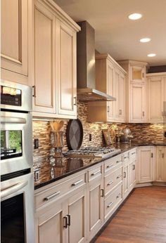 White Kitchen Cabinets with Dark Countertops. White Kitchen Cabinets with Dark Countertops. White Cabinets Dark Wood Floors Wood Countertop In Walnut Küchen Design, Design Case, House Design, Design Ideas, Bar Designs, Design Color, Layout Design, Oven Design, Custom Design