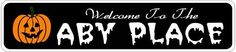ABY PLACE Lastname Halloween Sign - Welcome to Scary Decor, Autumn, Aluminum - 4 x 18 Inches by The Lizton Sign Shop. $12.99. Rounded Corners. Predrillied for Hanging. 4 x 18 Inches. Great Gift Idea. Aluminum Brand New Sign. ABY PLACE Lastname Halloween Sign - Welcome to Scary Decor, Autumn, Aluminum 4 x 18 Inches - Aluminum personalized brand new sign for your Autumn and Halloween Decor. Made of aluminum and high quality lettering and graphics. Made to last f...