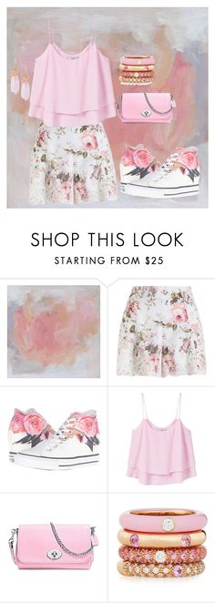 """""""Pink"""" by chauert ❤ liked on Polyvore featuring Zimmermann, Converse, MANGO, Coach, Adolfo Courrier and Indulgems"""