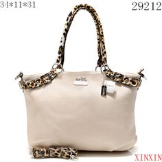 25c352569c32 Cheap And Fashion Coach Madison Leopard Large White Satchels ACL Are Here!  Laura Dennis · Purses I like