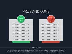 Pros and cons always go together. #advantages #disadvantages #slidedesign