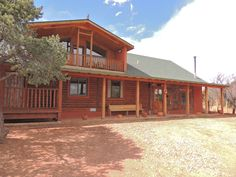 Custom Log Home in San Jose New Mexico.  3100 sq.ft with Panorama Views from Second Story Den/Family Room.