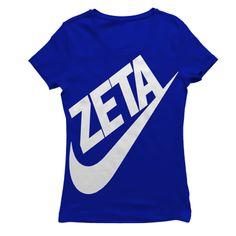 Zeta Phi Beta Swoosh Vert