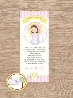 Un favorito personal de mi tienda Etsy https://www.etsy.com/es/listing/221656522/primera-comunion-favor-tarjetas-marcador