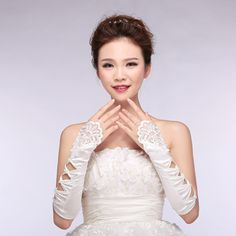 Wedding Gloves new chiffon lace bridal gloves married