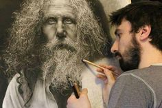 Artist Spends Hours Drawing Hyperrealistic Art using Renaissance Techniques - You could be forgiven for thinking that these portraits are photographs, but believe it or not they're actually drawings by Italian artist Emanuel. Pencil Art, Pencil Drawings, Art Drawings, Charcoal Drawings, Graphite Drawings, Pencil Painting, Drawing Art, Lucio Fontana, Art Hyperréaliste