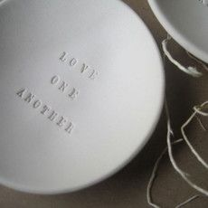 Love One Another tiny bowl by caroline and jose vasquez in @Katya du Bois.Bazaar /'s GREAT.LY boutique.