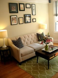 I love this couch from Macy's! Here it's in a 285 sq. ft. apartment in San Francisco!