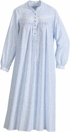 Eileen West Forget-Me-Not Flannel Nightgown Good Night Sweetheart, Flannel Nightgown, Pregnancy Outfits, Sleepwear Women, Maxi Dress With Sleeves, High Collar, Beautiful Gowns, Girls Shopping, Indian Dresses