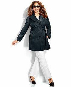 af695be77f9 DKNY Plus Size Single-Breasted Belted Trench Coat - Plus Size Coats - Plus  Sizes - Macy s