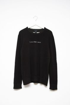 CALVIN KLEIN BLACK KNIT SWEATER via collection Nº2. Click on the image to see more!