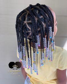 Braids for Kids- 50 Kids Braids with Beads Hairstyles Toddler Braided Hairstyles, Toddler Braids, Lil Girl Hairstyles, Natural Hairstyles For Kids, Hairstyles Videos, Little Girl Braid Styles, Kid Braid Styles, Little Girl Braids, Natural Hair Braids