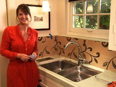 Video On How To Use Plexiglass And Wallpaper Backsplash Revamp Your Kitchen With A Diy