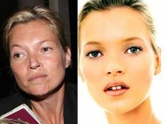 celebrities without makeup/photoshop - always keep this in mind - don't compare yourself to celebrities!