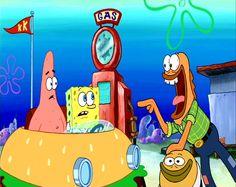 Patrick Star, SpongeBob SquarePants & 2 Gas Station FishMen
