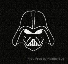 Darth Vader applique design.