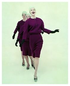 Jean Patchett, Betsy Pickering, and Marilyn Ambrose, photographed by Richard Avedon, New York, June 2, 1958