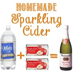 Super Simple Homemade Sparkling Apple Cider !