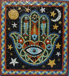 Mosaic Diy, Mosaic Garden, Mosaic Crafts, Mosaic Projects, Mosaic Wall, Mosaic Glass, Art Projects, Jewish Crafts, Jewish Art