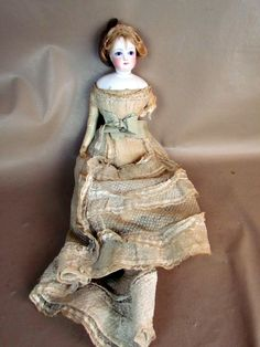 Details about ANTIQUE VICTORIAN unsigned FRENCH FASHION DOLL , BISQUE ...