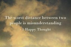 The worst distance between two people....