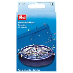 Prym Magnetic Pin Cushion Essential for keeping a small sewing pace clear of stray pins, and great for cleaning up quickly Cushions Online, Pin Cushions, Mannequin Display, Sewing Essentials, Minerva Crafts, Dressmaking Fabric, Sewing Basics, Basic Sewing, Hand Sewing