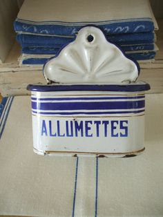 antique French ENAMELWARE  granite ware by vintagefrenchstyle