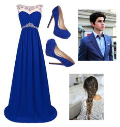"""""""Prom 2k16 with Nash"""" by bessy-zelaya ❤ liked on Polyvore featuring Jessica Simpson"""