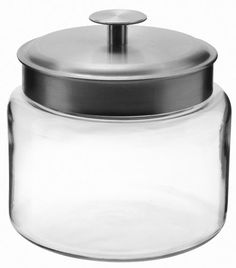 Anchor Hocking Mini Montana Jars with Brushed Aluminium Metal Covers, 64-Ounce, Set of 2 Anchor Hocking http://www.amazon.com/dp/B00FJT56C4/ref=cm_sw_r_pi_dp_UI-Qvb1FQV3RA