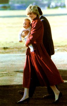 Princess of Wales with baby William