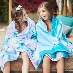 Tie Dye Burst Beach Towel - Pottery Barn Teen   Bohemian cool gets a new look with this vibrant tie-dye pattern.