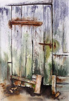 couleurs du vieux bois aquarelle Anne Larose #watercolor jd