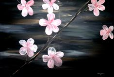 Cherry Blossom Painting by Mark Moore
