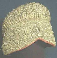 gold(en) embroidery . ancient russian art .   feminine hat