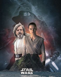 Star Wars with Mark Hamill as Luke Skywalker and Daisy Ridley as Rey.